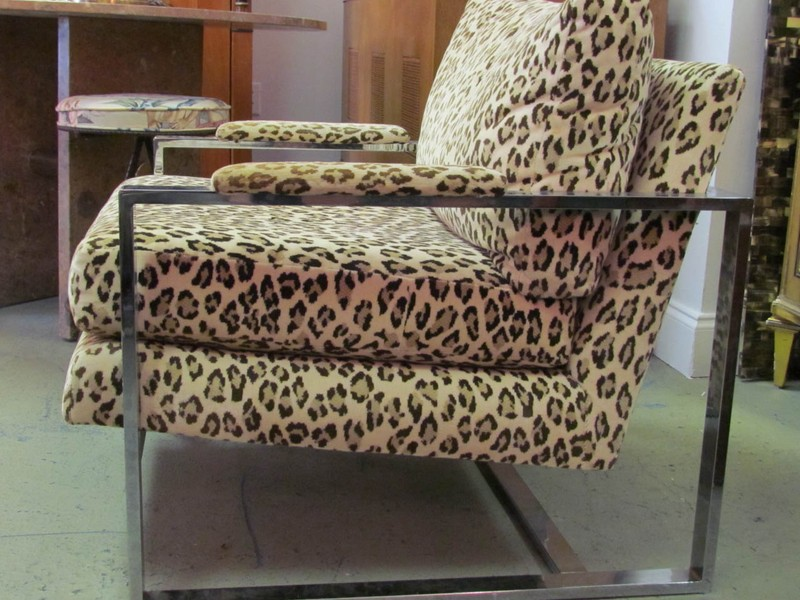 Leopard Print Accent Chair Furniture