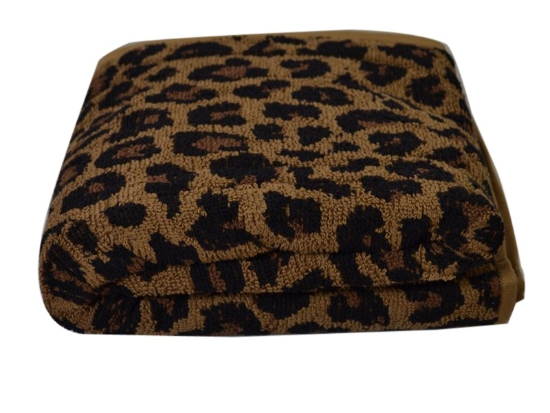 Leopard Print Bath Towels