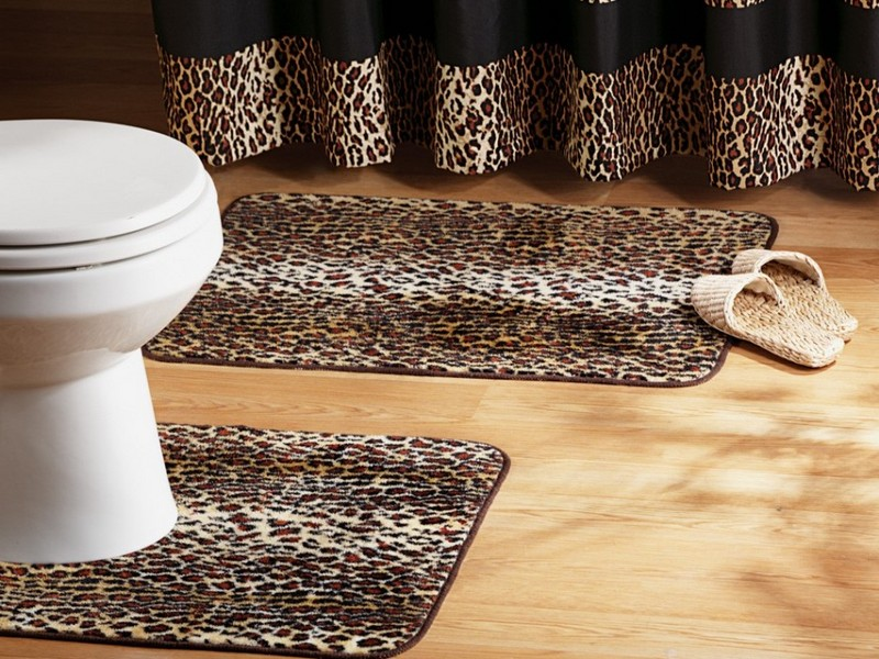 Leopard Print Bathroom Rugs