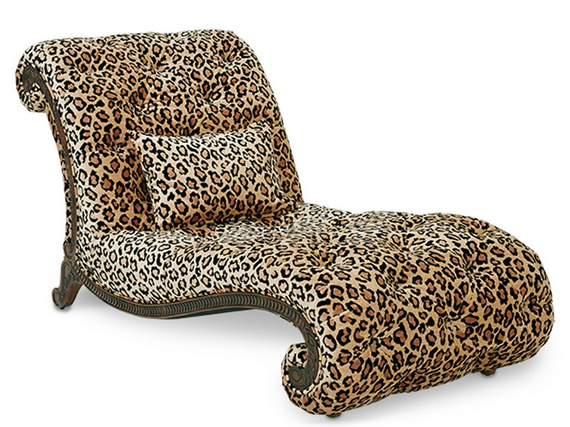 Leopard Print Chaise Lounge