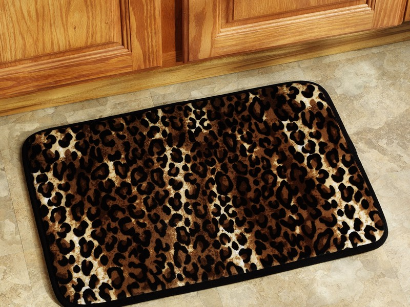 Leopard Print Kitchen Rugs