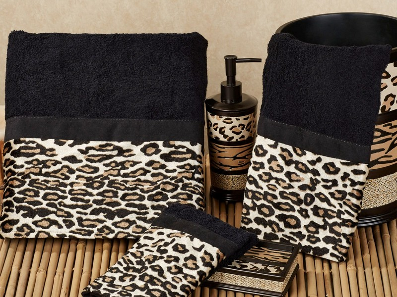 Leopard Print Towels Set