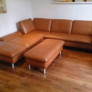 Light Brown Leather Corner Sofa