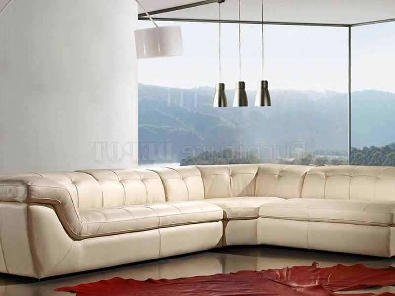 Light Brown Leather Sectional Sofa