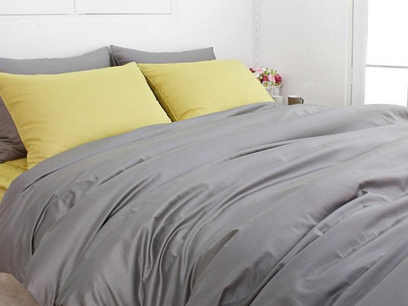 Light Grey Linen Duvet Cover