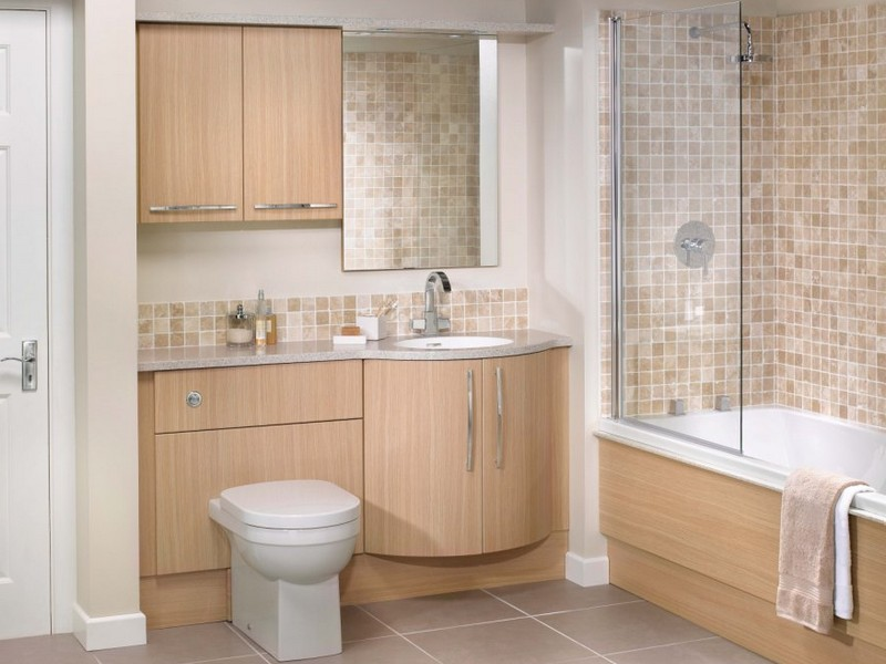 Light Oak Bathroom Cabinets
