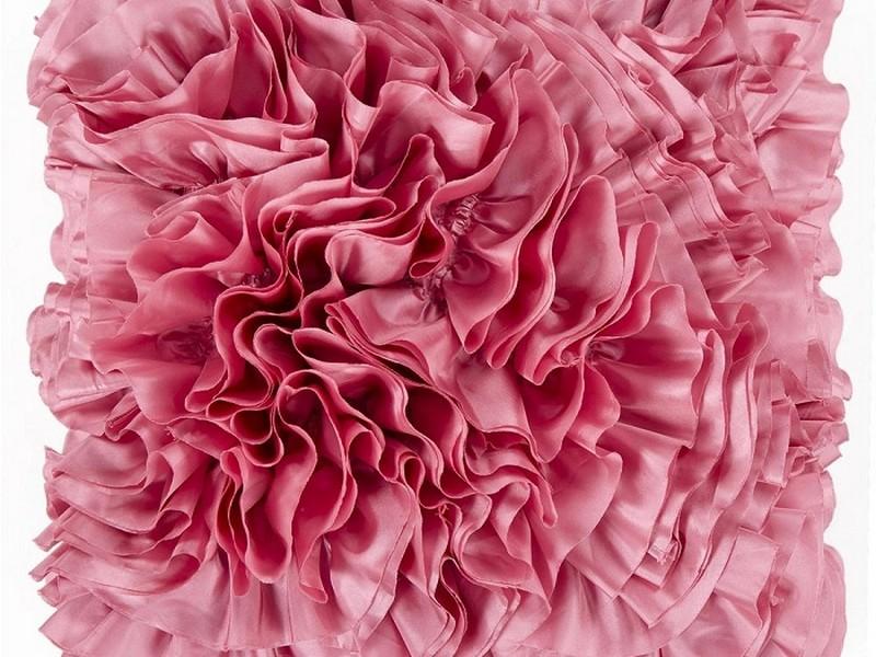 Light Pink Ruffle Pillow
