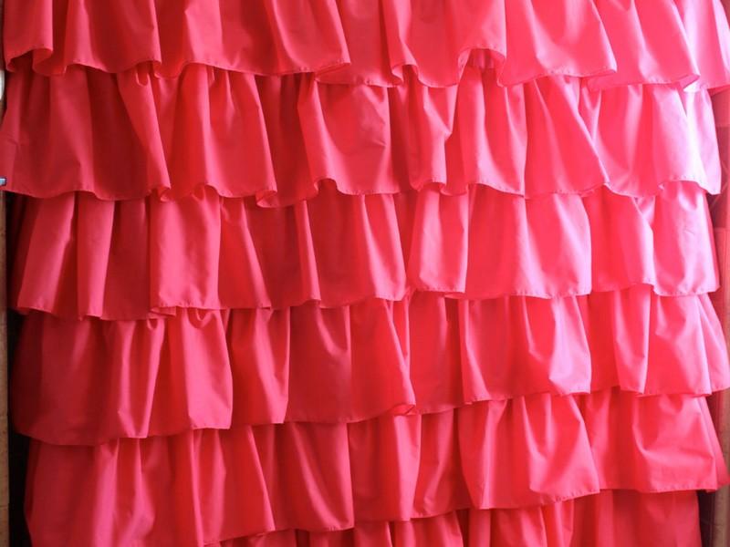 Light Pink Ruffle Shower Curtain