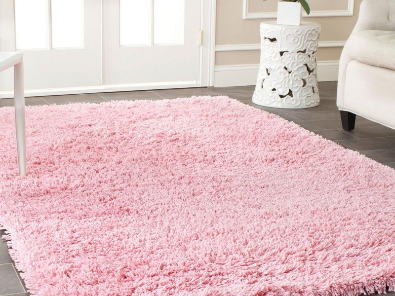 Light Pink Shag Rug