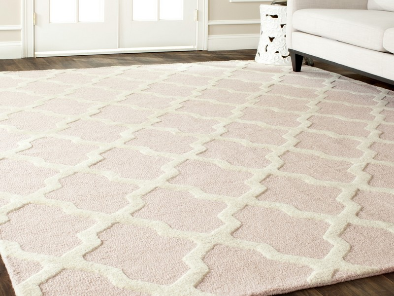 Light Pink Trellis Rug