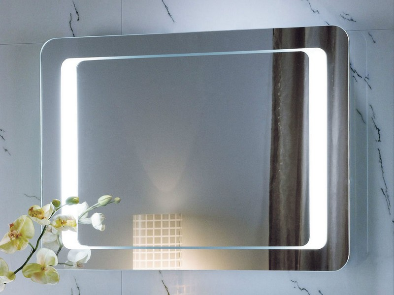 Lighted Bathroom Mirrors Wall