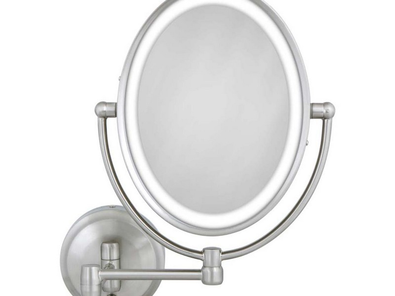 Lighted Makeup Mirror 10x Wall Mounted