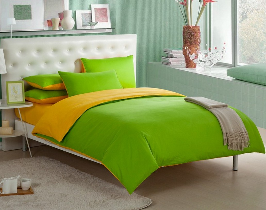 Lime Green Duvet Cover Single
