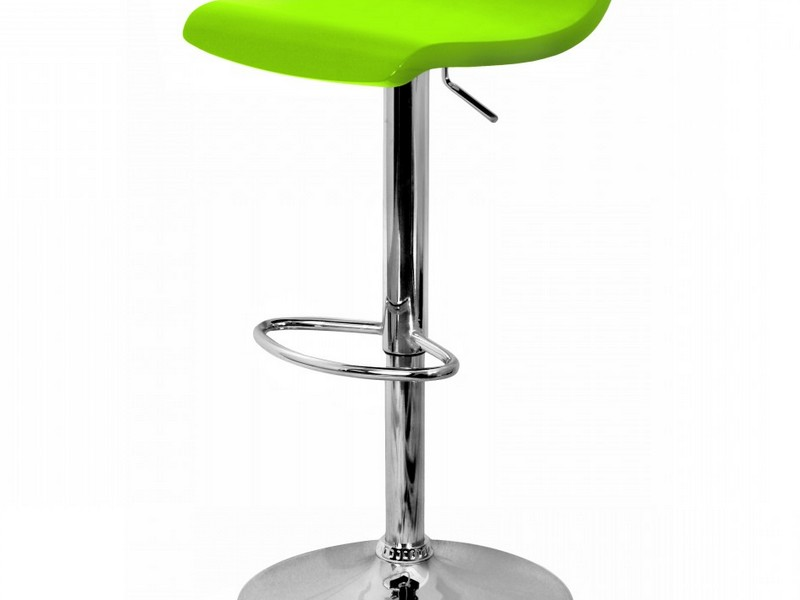 Lime Green Leather Bar Stools