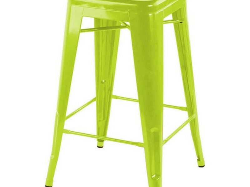 Lime Green Metal Bar Stools