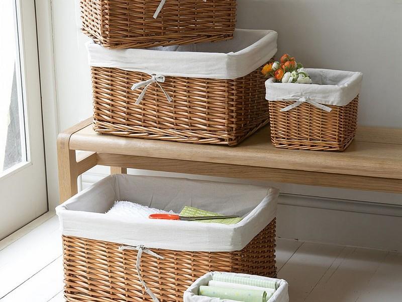 Lined Wicker Baskets Cheap