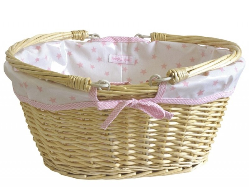Lined Wicker Baskets For Nursery