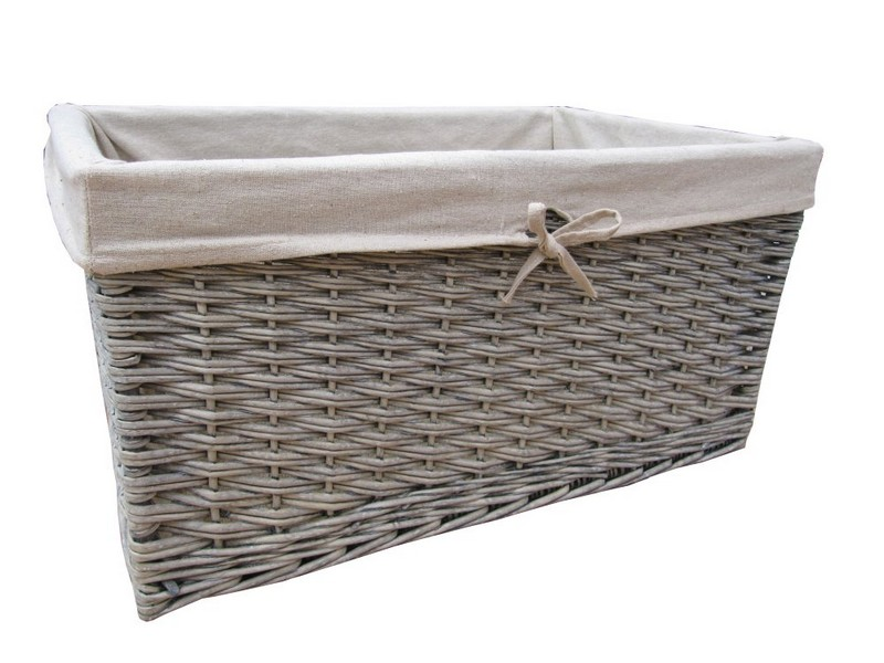 Lined Wicker Baskets Storage