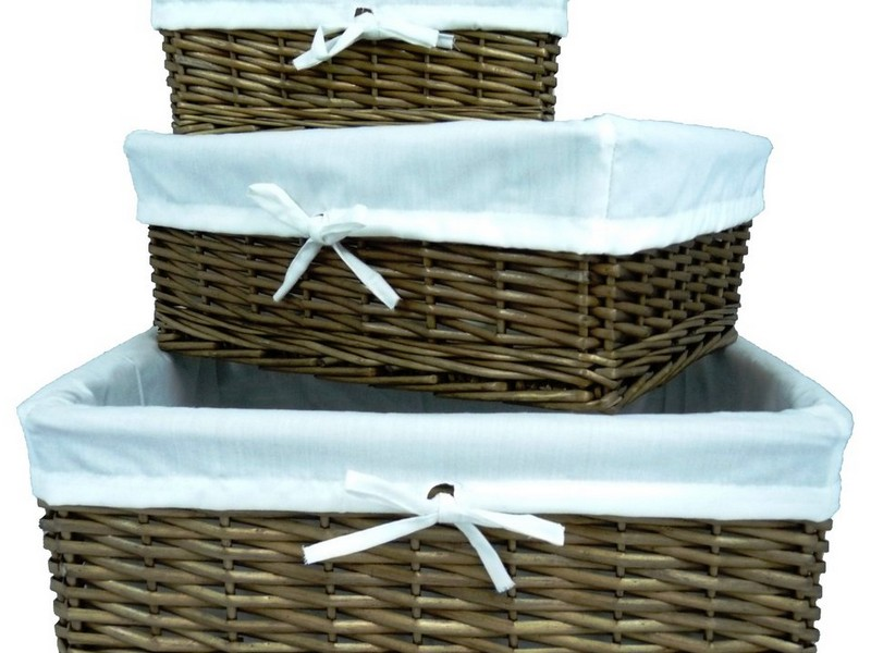 Lined Wicker Baskets Uk