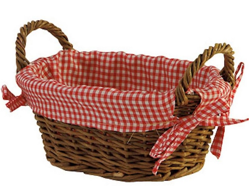Lined Wicker Baskets With Handles