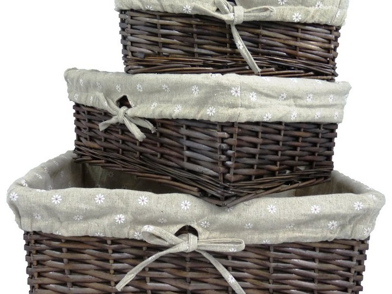 Lined Wicker Baskets
