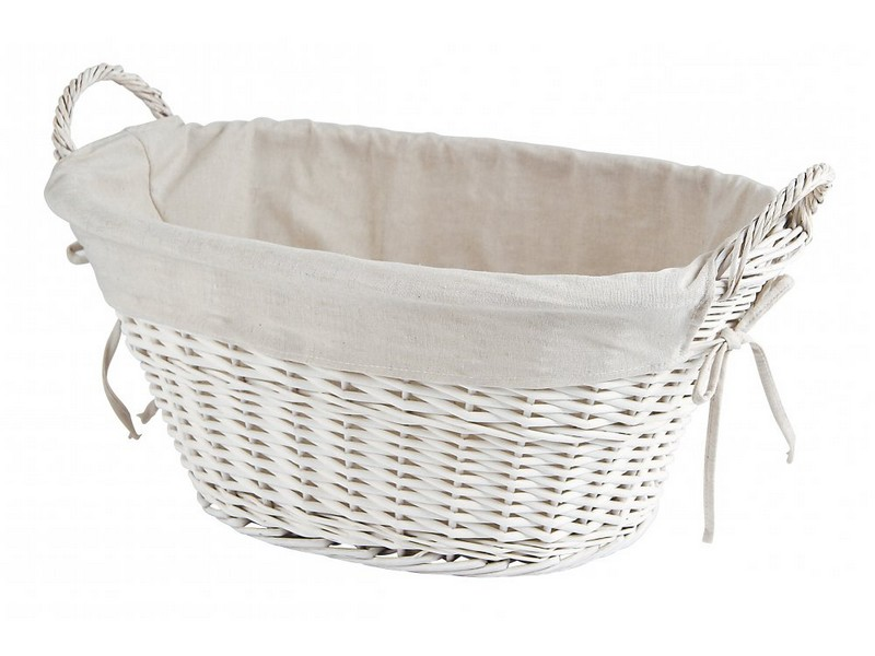 Lined Wicker Laundry Baskets