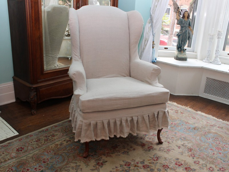 Linen Slipcovers For Wingback Chairs