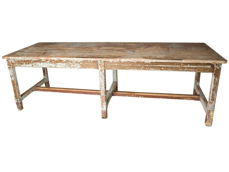 Long Narrow Farm Table