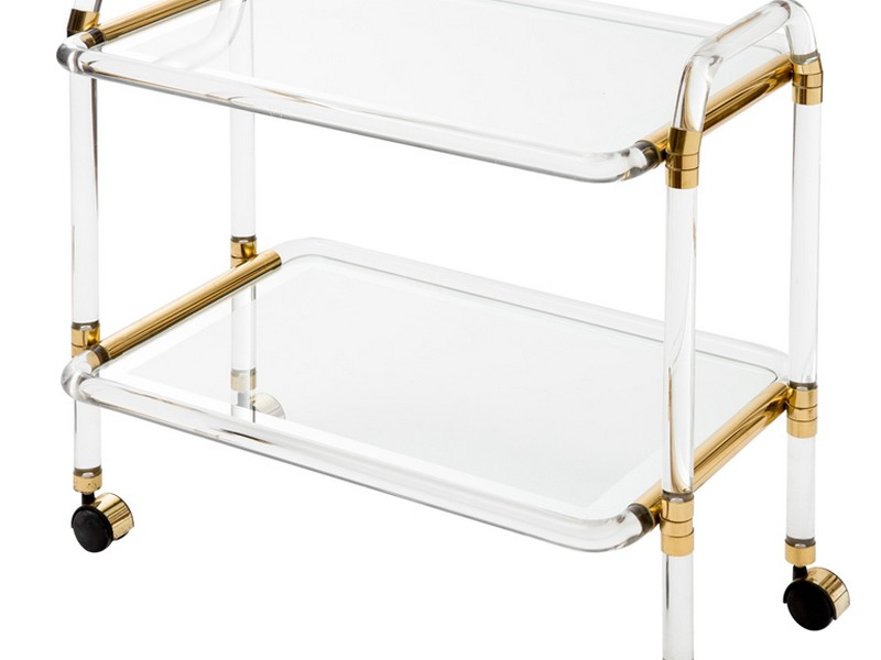 Lucite Bar Cart Vintage