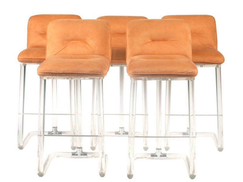 Lucite Bar Stools With Backs
