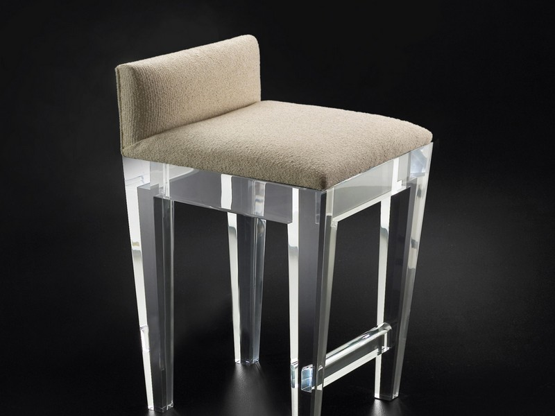 Lucite Counter Stools With Back
