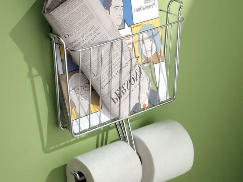 Magazine Rack For Bathroom Wall