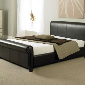 Mahogany Sleigh Bed Single