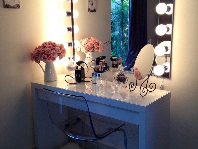 Makeup Vanity Table With Lights Ikea