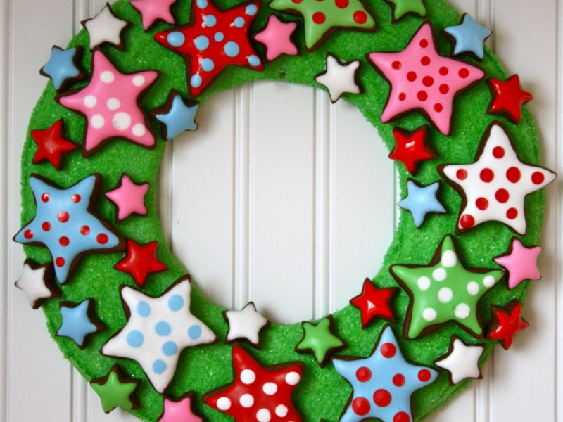 Making Christmas Wreaths