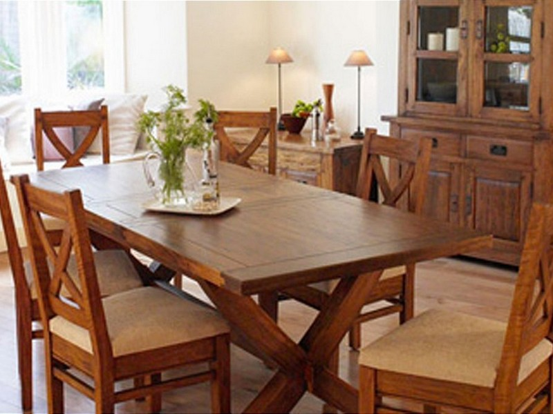 Mango Wood Dining Table Bench Seats