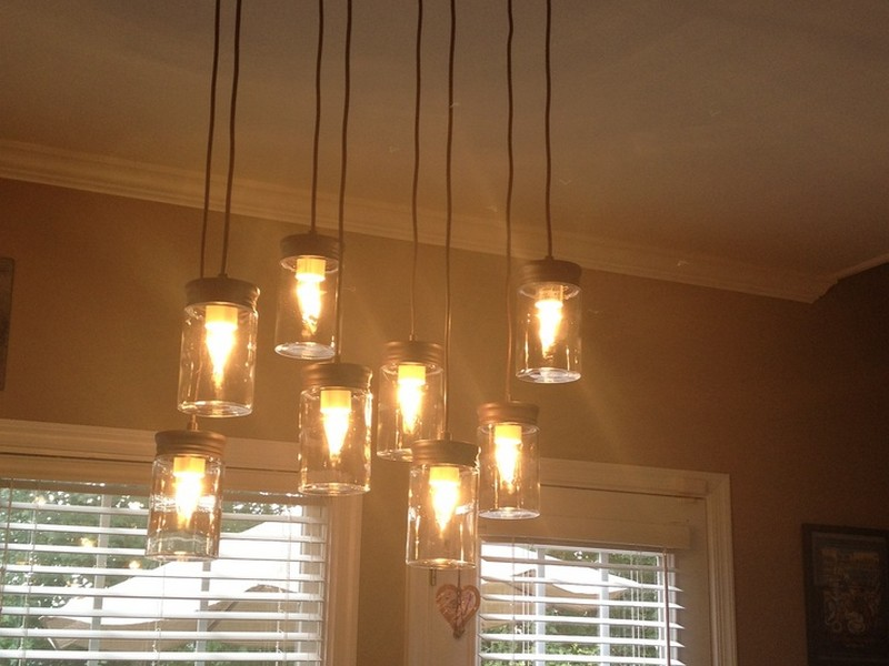 Mason Jar Light Fixtures Lowes