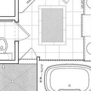 Master Bathroom Designs Floor Plans