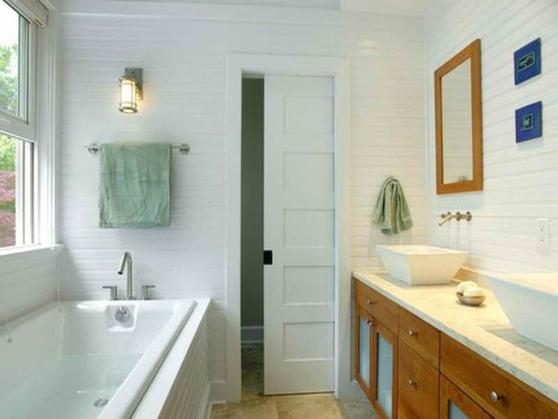 Master Bathroom Pocket Door