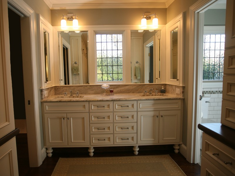 Master Bathroom White Vanities