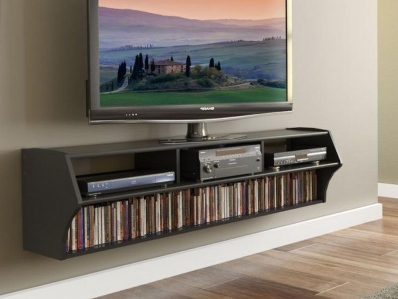 Media Storage Ideas Wall Mounted Tv