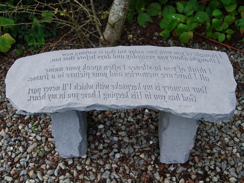 Memorial Garden Benches Stone