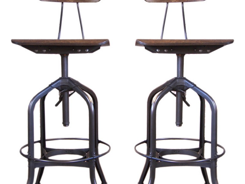 Metal And Wood Bar Stools