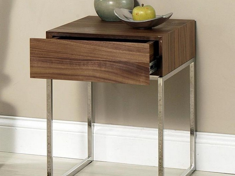 Metal And Wood End Tables