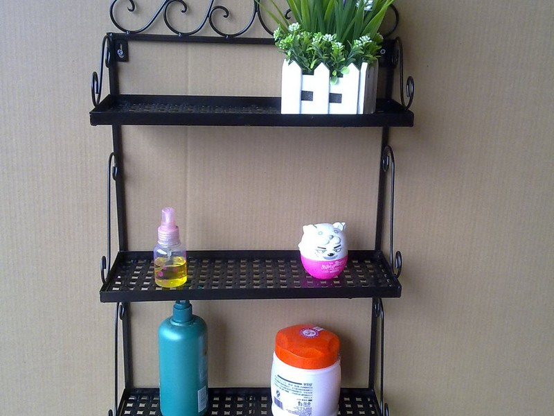 Metal Bathroom Shelf Rack