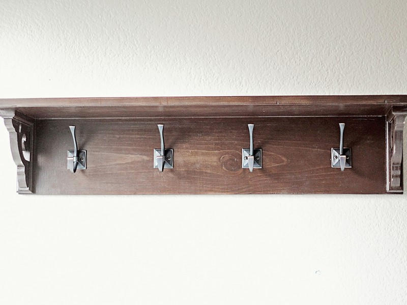 Metal Bathroom Shelf With Hooks