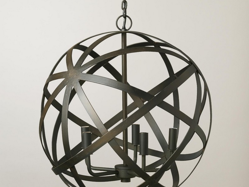 Metal Orb Light Fixture