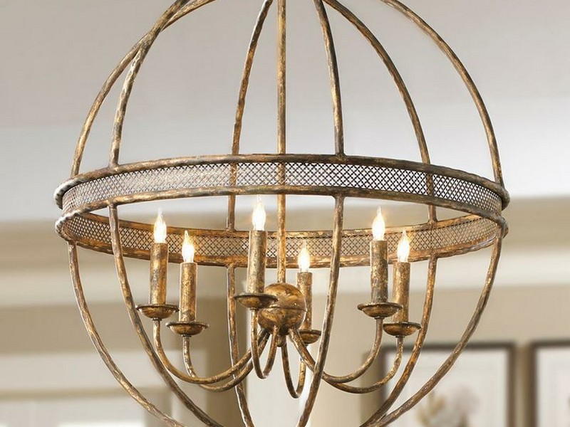 Metal Sphere Light Fixture