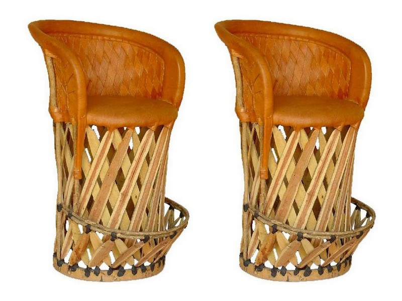 Mexican Bar Stools Leather