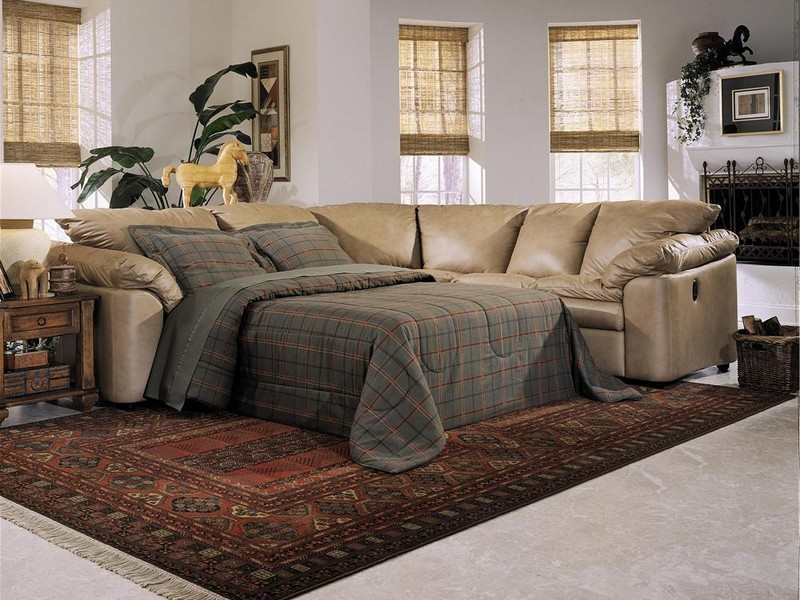 Microfiber Sectional Couch With Ottoman